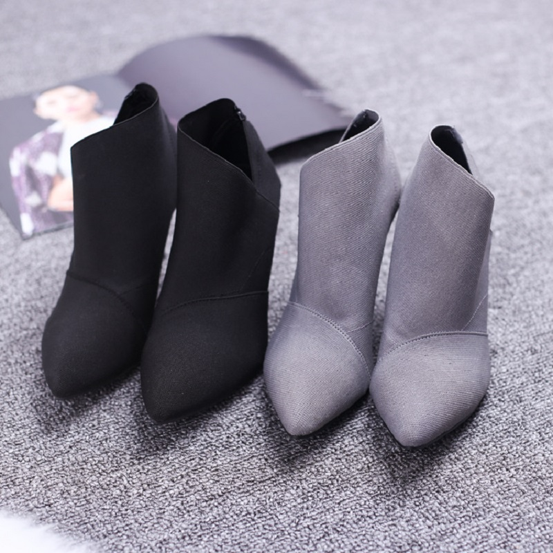 29b98d3d476 Pointed Toe Women Boots High Heels Basic Shoes Winter Ankle Boots For Women  Autumn Casual Female Boots Hot Fashion Shoes DT609-in Ankle Boots from Shoes  on ...