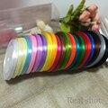 (100yards/roll) 25 6mm Sola Cara Cinta del Satén Al Por Mayor de cintas de embalaje de regalo de Navidad