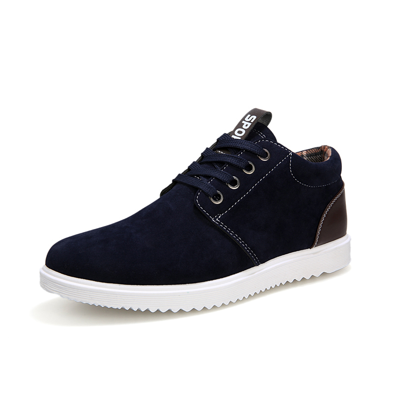 Men s casual flats shoes men male lace up round toe autumn winter shoes england style