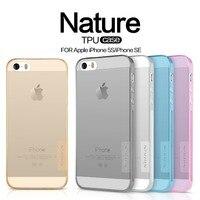 Original NILLKIN Ultra Thin Transparent Nature TPU Case For IPhone 5 5s Se Clear TPU Hard