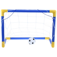2016 New Fashion Mini Football Soccer Goal Post Net Set With Pump High Quality Great Funny