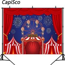 Background Studio Curtain Fireworks Party-Banner Birthday-Photo Circus Baby Shower Capisco