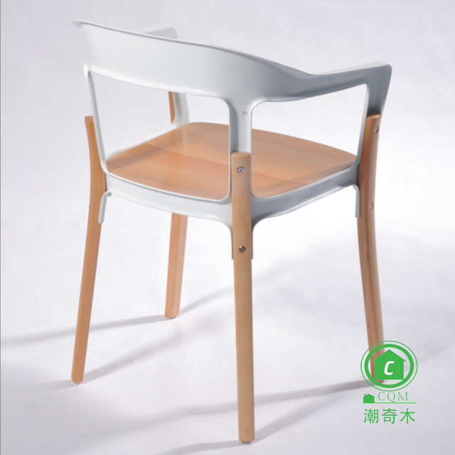 The New European Style Wooden Chairs Steel Furniture Minimalist