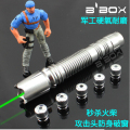 5 star cap Powerful green laser pointer 20000mw 20w 532nm high power focusable burn match,burn cigarettes+charger+box