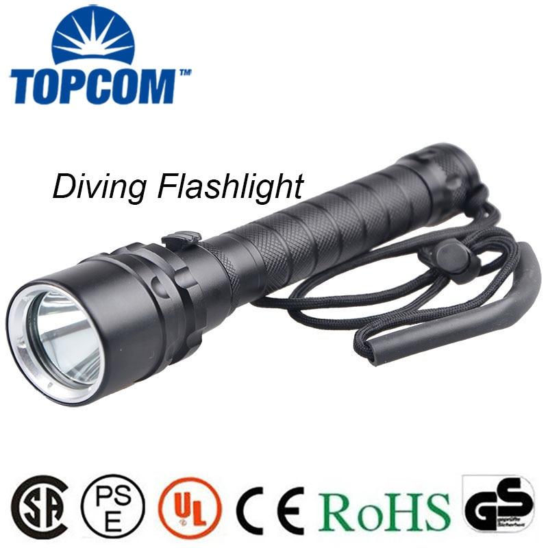 [Free ship]Diving flashlight 18650 LED Ls