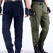 3930db25250 Trabajo pantalones hombres multi bolsillos pantalones de trabajo de carga  gran tamaño suelta estilo trabajo desgaste