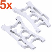5 Pairs/Lot Aluminum Rear Lower Suspension Arms For 1/5 HPI Baja 5B 5SC 5T 5R SS T1000 KM ROVAN 85402 Hop Up Parts CNC