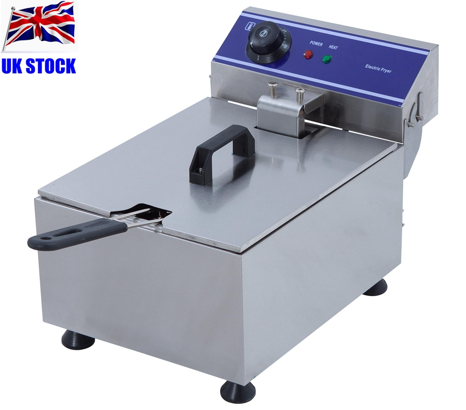 цена на Commercial 10L 3KW Kitchen Equipment Stainless Steel Deep Fryer Donut Fryer Machine
