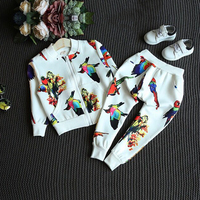 Fashion Boys Clothes Sets Children Casual Clothing Set Kids Boy Animal Print Sports Suit Long Sleeves