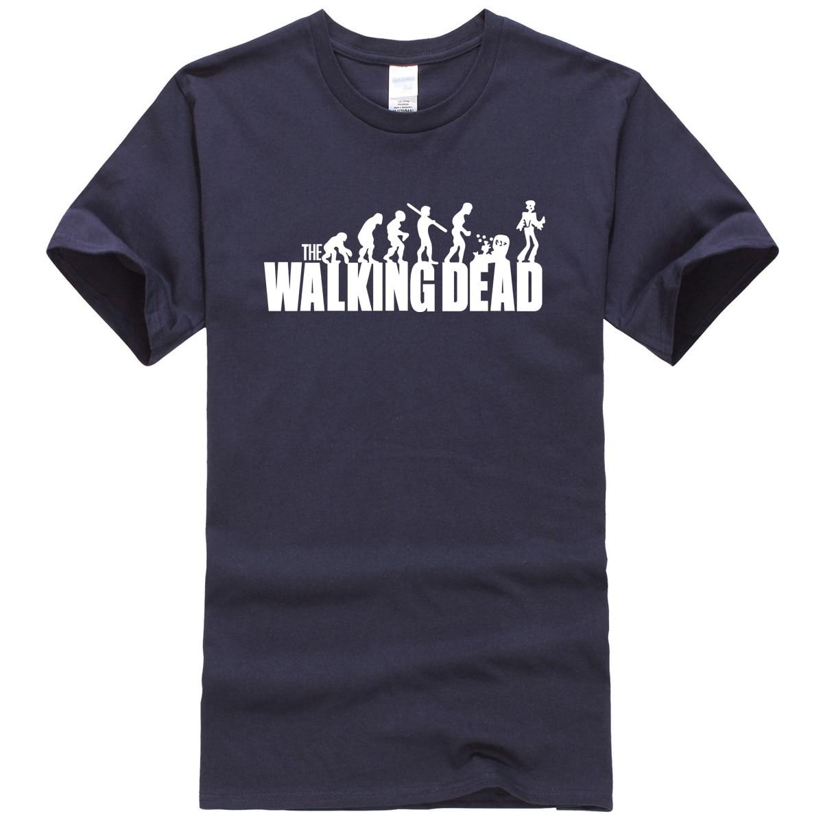 T Shirts For Men 2017 Summer Walking Dead Letter Printed