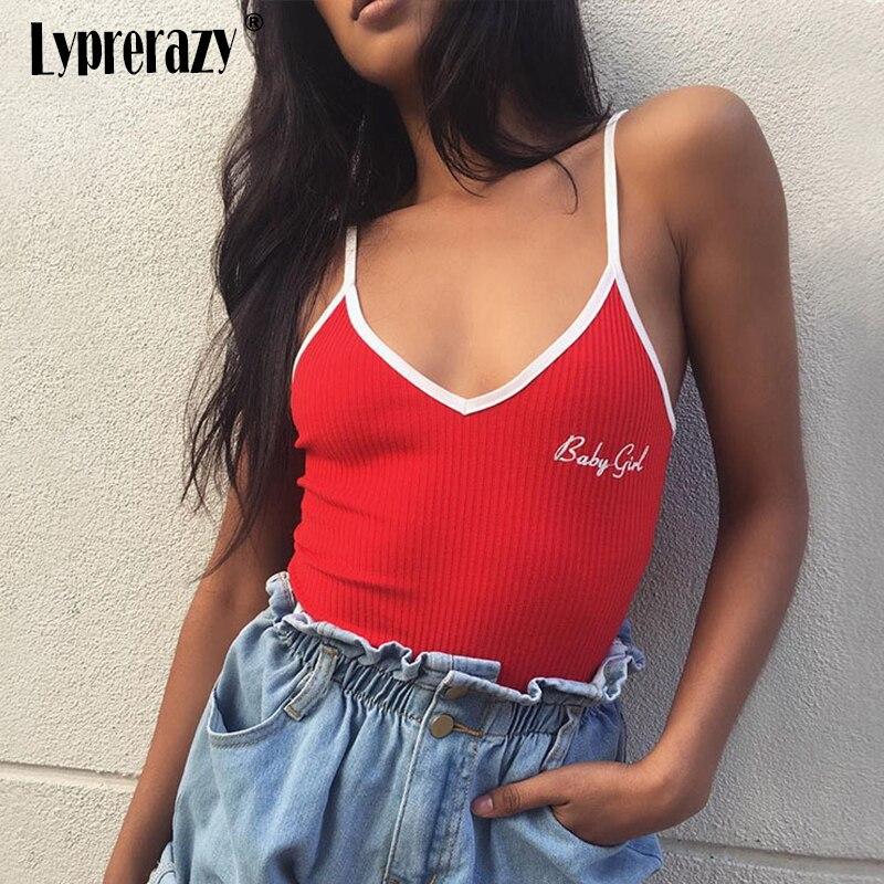 Bodys Lyprerazy Baby Mädchen Patch Strap Halter Romper 2018 Frühling V-ausschnitt Stickerei Gepatcht Backless Frauen Rot Sexy Body HöChste Bequemlichkeit
