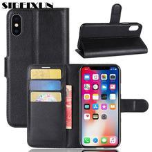 SEIBEIXUN роскошный флип-чехол из искусственной кожи для iphone 7 8 plus, кожаный чехол-кошелек с подставкой для iphone X 4S 5s 6s plus, различные модели