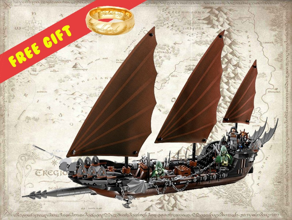 16018 756Pcs The Lord of the Rings Pirate Ship Ambush Model 79008 Building Block Brick Toy Compatible legoe kid gift set lepin movie series ghost pirate ship 16018 756pcs building block for children toys 79008 compatible legoe pirate ship