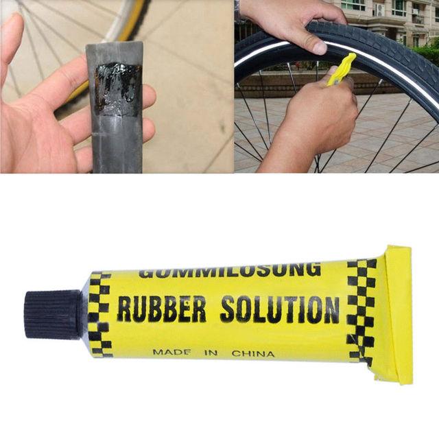 2 Pcs 10ML/10g Tire Repair Glue Bicycle Repair Tool Bike  Bicycle Inner Tube Puncture Repair Cement Rubber Cold Patch Solution