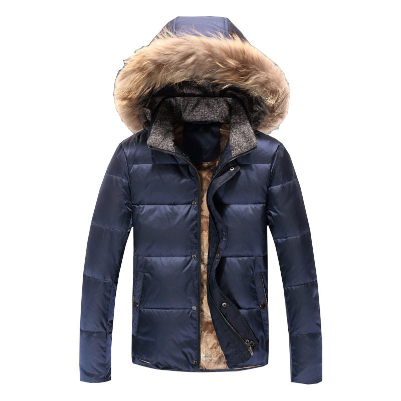 New Men Winter Jackets Fashion Fur Hood Cotton Padded Thick Warm Outerwear Mens Coat Male Brand Down Parka 2016 new long winter jacket men cotton padded jackets mens winter coat men plus size xxxl
