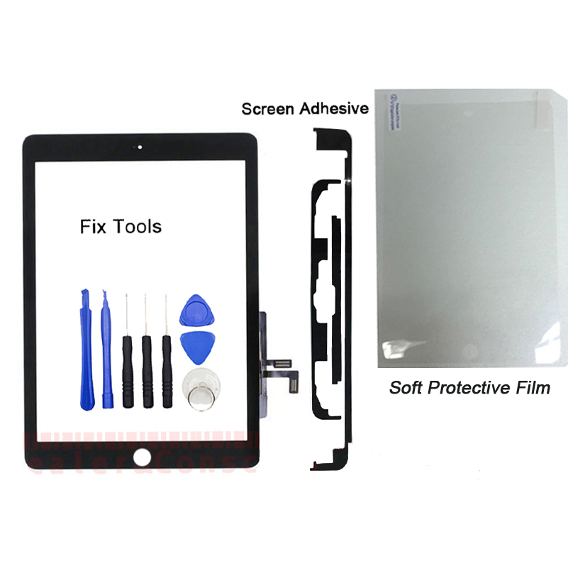 1Pcs (Tested) Touch Screen Digitizer Outer Panel For iPad 9.7 (2017 Version) iPad 5 A1822 A1823 Front Glass Lens+Tools+Adhesive