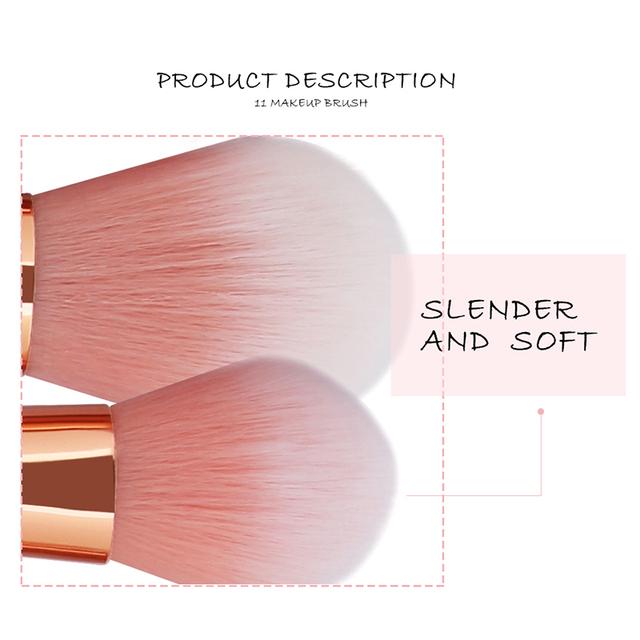 Diamond Rose Gold Makeup Brush Set Mermaid Fishtail Shaped Foundation Powder Cosmetics Brushes Rainbow Eyeshadow Brush Kit