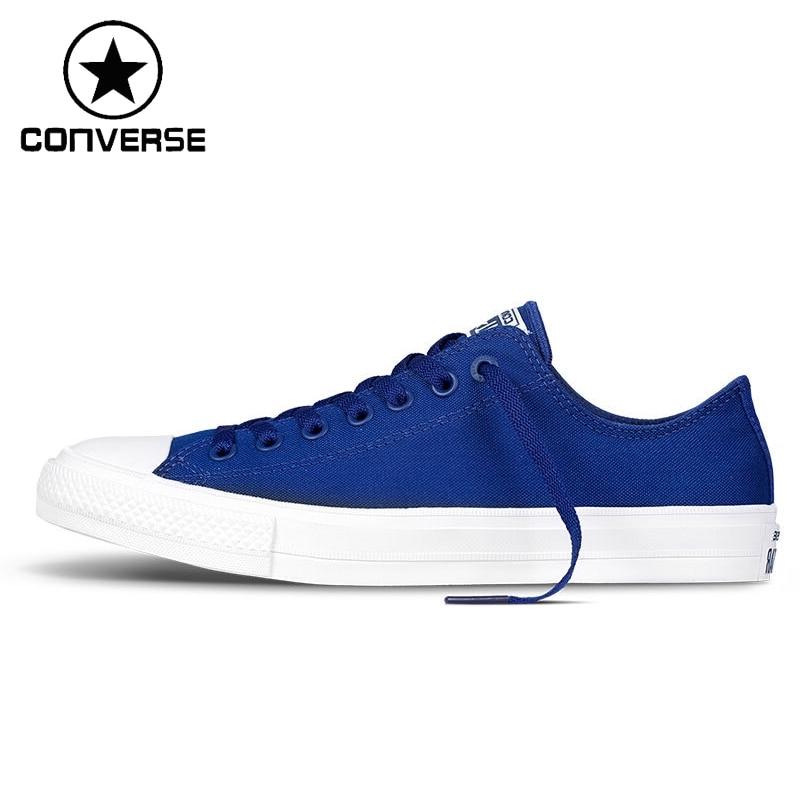 Original New Arrival 2017 Converse Chuck Taylor ll Unisex Skateboarding Shoes Canvas Low ...