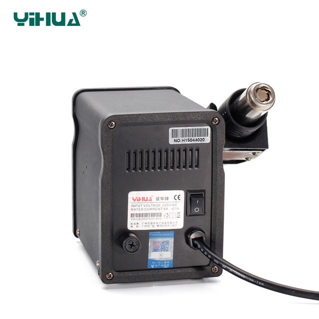 YIHUA 8786D Rework Station Digital Display Iron Soldering Stations SMD Hot Air Gun Soldering Station Welding Soldering Supplies 4