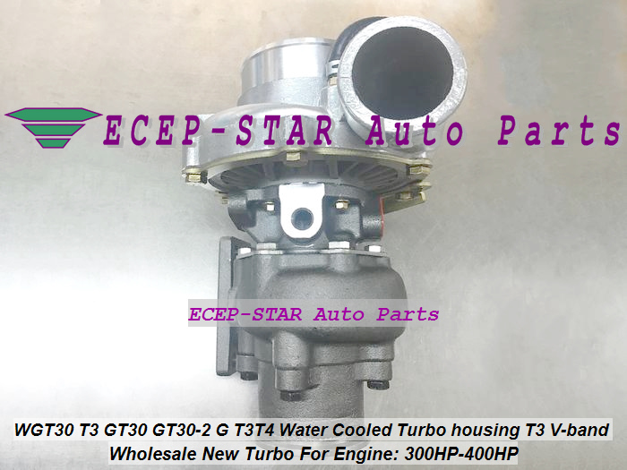 Free Ship Turbo Turbocharger GT30 GT35 WGT30-1 T3T4 T04E T3 Flange Comp A/R .50 A/R .48 water cool outlet 2.5 v-band 300-350HP ...