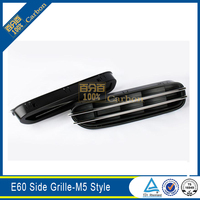 For BMW 5 Series E60 Side Grille M5 Style Chrome Cover 2004 2009