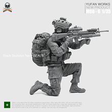 цена на Yufan Model 1/35 resin figure soldier US military seal commando posture Moo-06