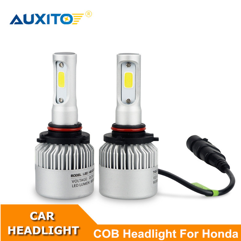 2X For Honda Civic Accord Crv Fit Jazz City Hrv 9005 9006 H11 9003 Car LED Headlight Bulb 16000LM LED Auto Headlamp Replacement 12v led light auto headlamp h1 h3 h7 9005 9004 9007 h4 h15 car led headlight bulb 30w high single dual beam white light
