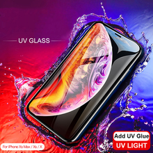Nano Liquid UV Tempered Glass for iphone X XR XS MAX Screen Protector 6S 7 8 plus Light Full Glue film