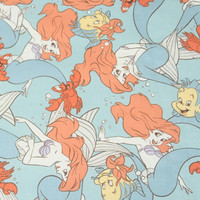 1 Meter Plain Cotton Fabric Cartoon Comic And Animation Printing Tissue Handmade DIY Quilt Garment Pure