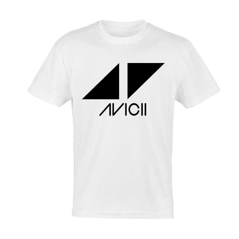 Avicii T koszula moda biały kolor mężczyzna z krótkim rękawem gwiazda Avicii Logo T-shirt topy koszulki Unisex Avicii tshirt