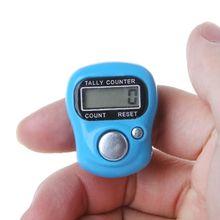 Мини-маркер для стежков и счетчик пальцев в ряд ЖК-электронный цифровой счетчик для шитья вязания инструмент для плетения счетчик пальцев