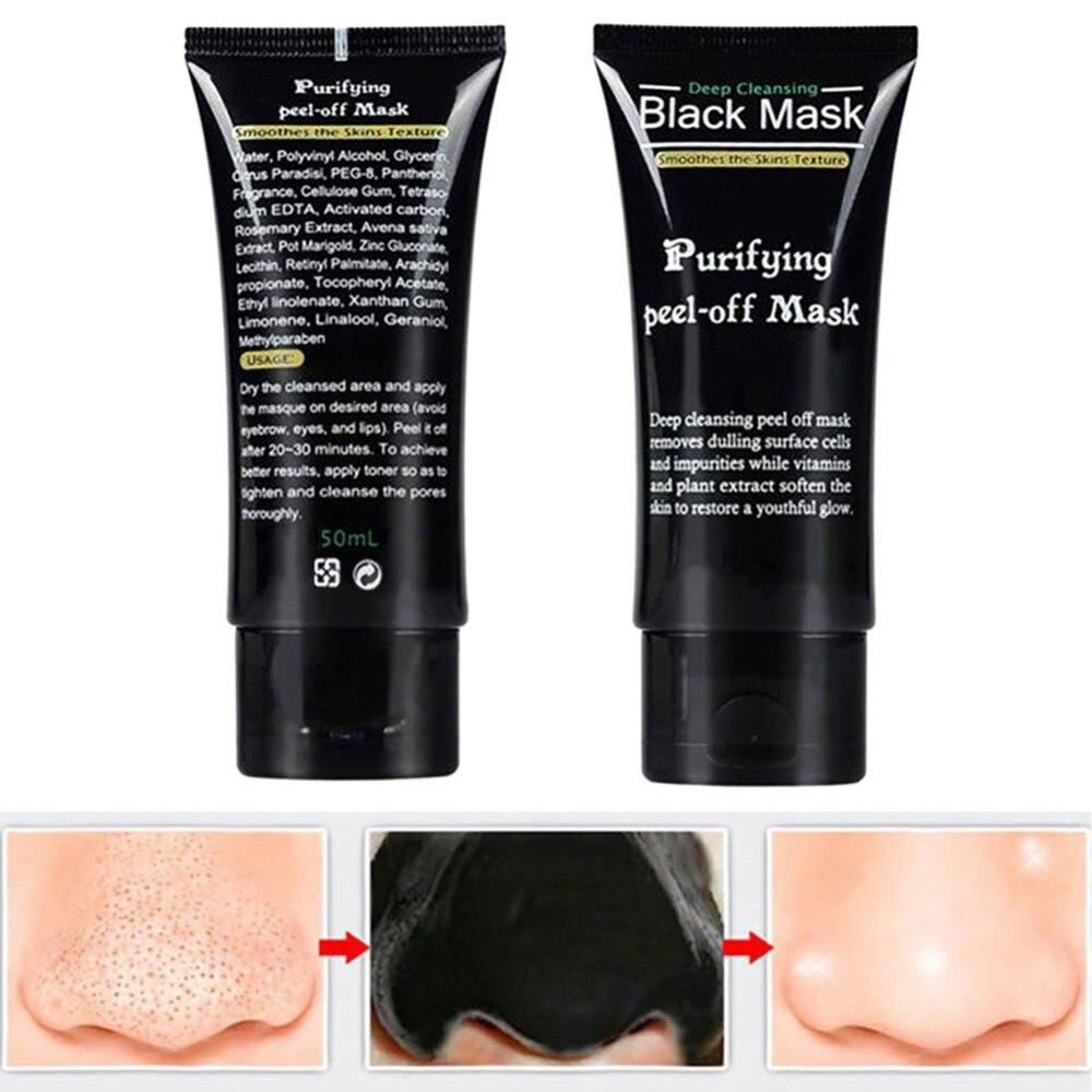 Blackhead Remover Deep Cleansing Purifying Peel Acne Black Mud Face Masks цена