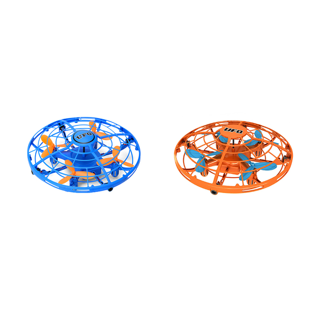 Funny Hand Controlled USB Charging Flying Ball Mini Aircraft Interactive Infrared Induction with 360 Rotating LED Light for Kids