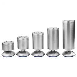 4 Patas de muebles ajustables de unids/set altura pies de mesa de acero inoxidable de plata sofá nivel pies patas de gabinete