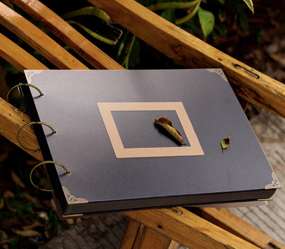 Album Photo noir très grand classeur à anneaux/Album de mariage Scrapbook/livre d'or de mariage