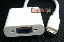 Mini HDMI Male to VGA Female Video Audio Converter Box Cable (Chip inside)