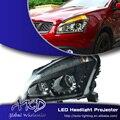 Единый Торговый Стиль для Nissan Qashqai СВЕТОДИОДНЫЕ Фары Qashqai Фары DRL Объектив Двойной Луч H7 HID Xenon Автомобилей аксессуары
