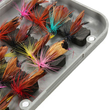 32pcs Fly Fishing Lure Set Artificial Insect Bait Trout Fly Fishing Hooks Tackle with Case Box Butterfly Insect Pesca Wholesale