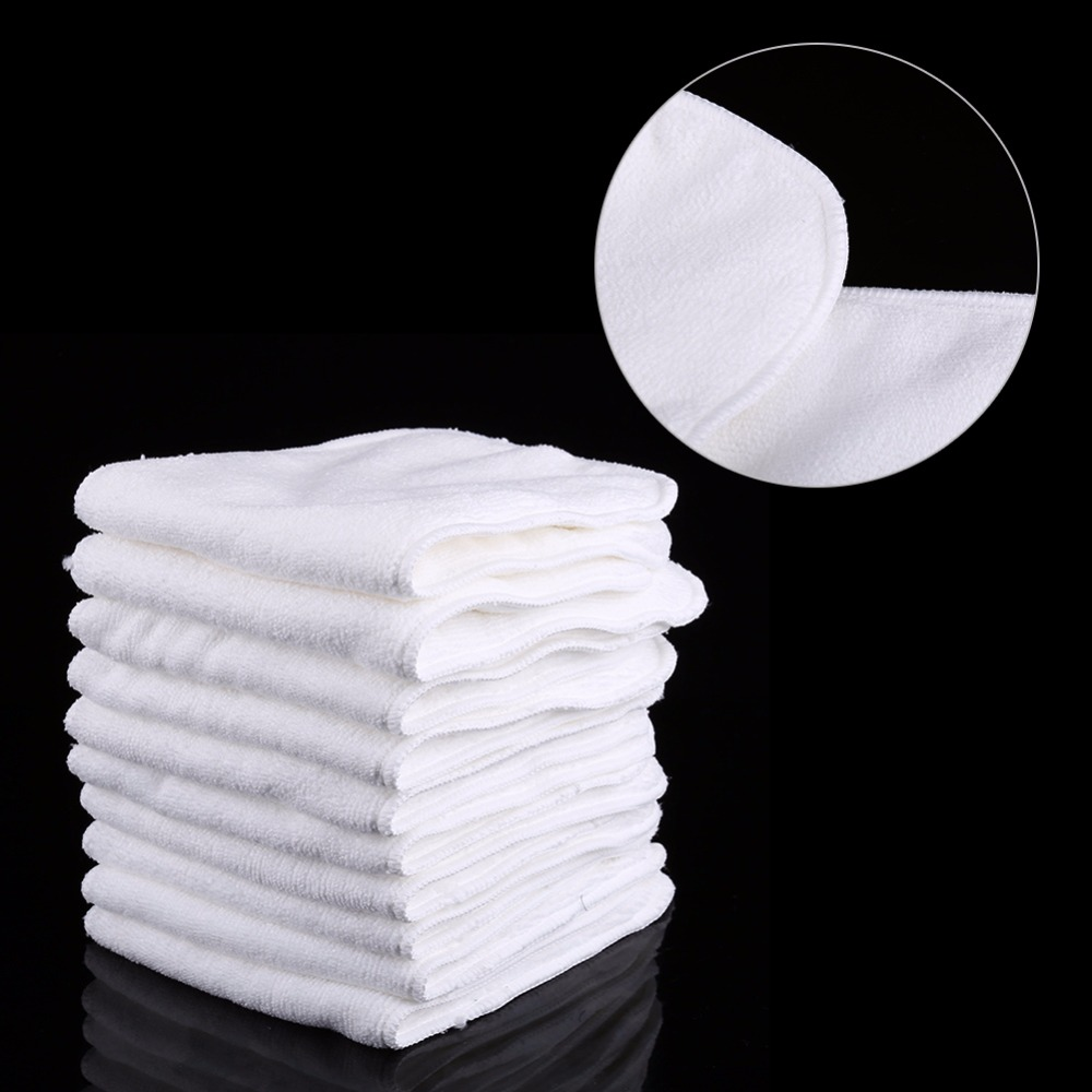 10PCS/set Baby Diapers Liner Pad Washable Reusable Layers Soft Diaper Pad Insert Superfine Fiber Nappy Liner Cloth diapering