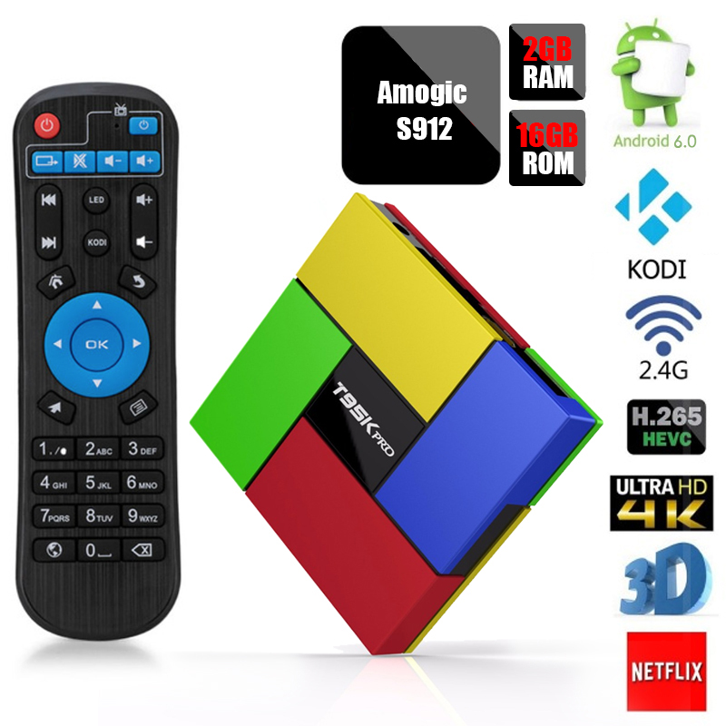 Android TV BOX KODI Amlogic S912 Qcta Core UHD 4K BT4.0 Dolby IPTV Smart TV Set-top BOX Media Player movies