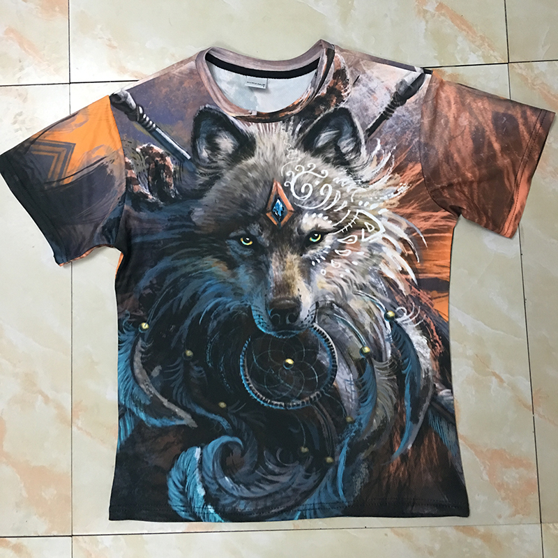 81968a7f6 Wolf Warrior by SunimaArt 3D T shirts Men T shirts New Design Drop Ship Tops  Tees Short Sleeve Tshirt Camiseta Summer Animal-in T-Shirts from Men's  Clothing ...