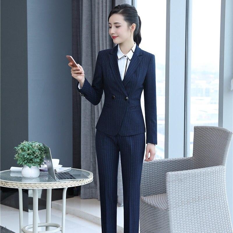 100% Wahr Uniform Styles Formale Herbst Winter Blazer Anzüge Mit Hose Und Jacken Für Damen Büro Business Frauen Hosenanzüge Plus Größe Elegant Und Anmutig
