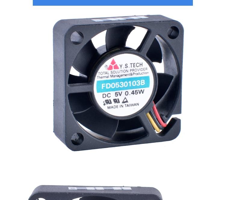 FD0530103B 3010 3cm 30mm fan 5V 0.45W Double ball bearing micro cooling fan