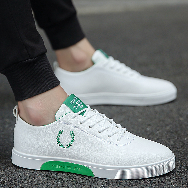 Men Shoes 2018 Spring/Autumn Fashion Solid Color Men Vulcanized Shoes Lace-up Casual  Youth Trend Shoes Men Sneakers