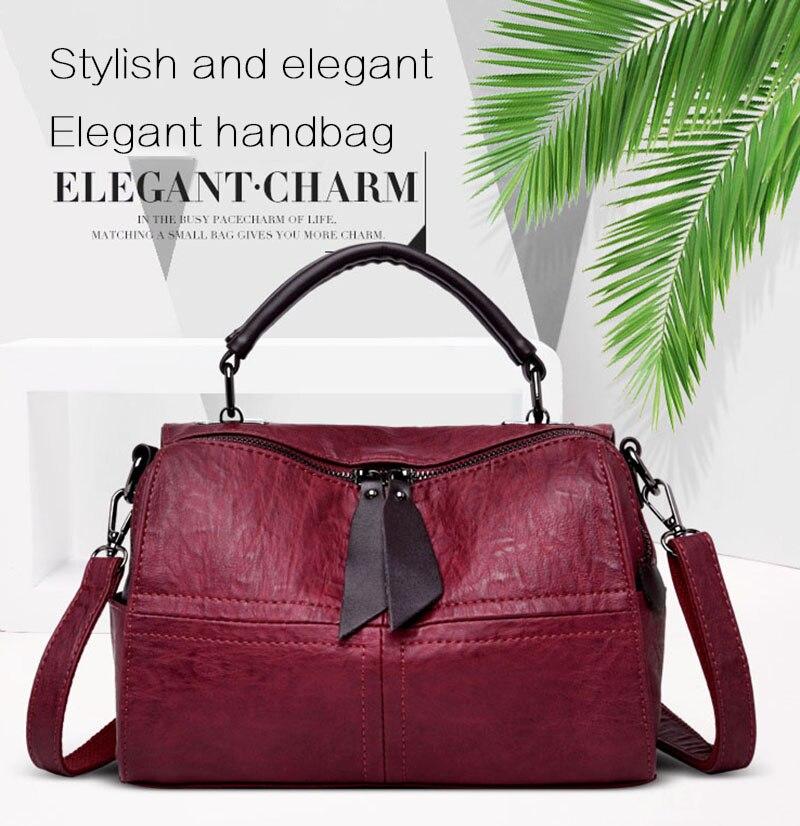 27db206c2c KMFFLY Leather Casual Tassel Handbag Famous Brands Designers Pu Leather  Handbags Women Big Tote Bags Female Messenger Bags