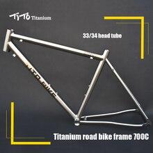 Free shipping !!! TiTo titanium  road bike frame 700C titanium road bicycle outside line