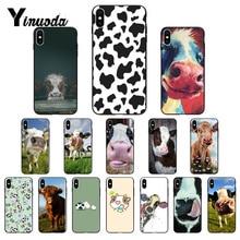 Yinuoda vaca suave protectora tpu caja del teléfono móvil carcasa para iPhone 6S 6 más 7 7plus 8 8 plus X Xs X Xr XsMax 5 5S 5C SE
