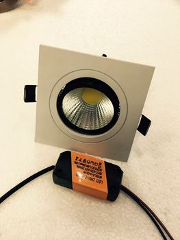 10pcs/lot 5w  Limited Square Bright Recessed Led Dimmable Downlight Cob Spot Light Decoration Ceiling Lamp Ac 110v 220v