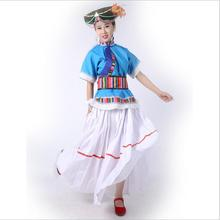 YunNan Sichuan Pumi Nationality Dance Costume Characteristic Outfit Asian Special Clothes Chinese Ethnic minority Clothing + Hat цена