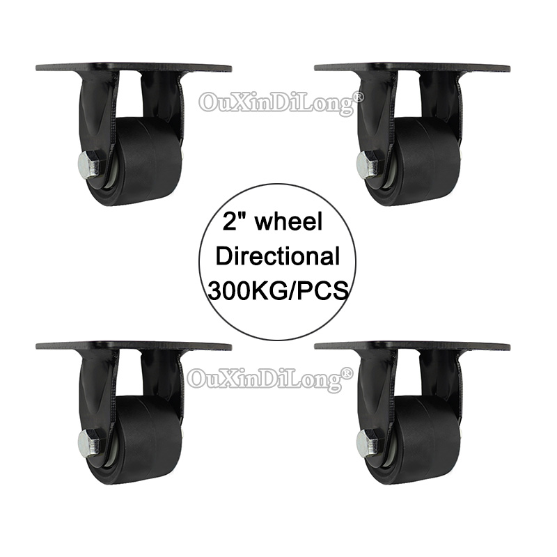 Directional 4PCS 2 heavy duty wheels load bearing 300kg/pcs casters industrial wheels universal wheel JF1643 new 4 swivel wheels caster industrial castor universal wheel artificial rubber heavy casters brake 360 degree rolling castors